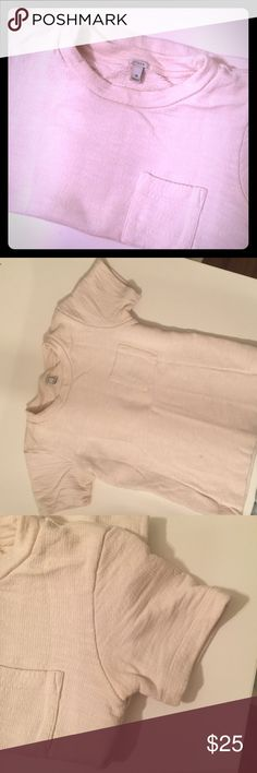 T-shirt sweatshirt Thick sweatshirt material in short sleeve form. Could even dress it up for work with a Cute necklace. Cream. J. Crew Sweaters Crew & Scoop Necks