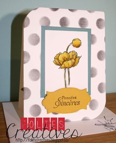 Card using Simply sketch from Stampin'up! By Folies Créatives
