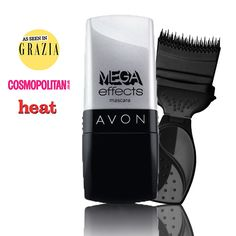 Avon Mega Effects Limited Edition Mascara   Black - Limited Edition Silver Packaging.  Get panoramic volume and corner-to-corner coverage for waterproof dramatic definition. Black. 9ml.