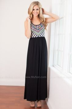 "Take a stroll through the park or zoo in this flowy number while pairing it with some cute wedges and a long necklace. This sleeveless maxi dress is comfortable and casual. Bust in Small 28"" Medium 30"" Large 32""Waist in Small 36"" Medium 38"" Large 40""95% Modal5% SpandexHand Wash ColdHang or Line DryMade in U.S.A.Model is 5'7"" and size 2 in a SmallSmall 2/4, Medium 6/8, Large 10/12 FIT: This garment fits true to size.BUST: Great for any cup size.WAIST: Fitted with stretch.HIP: Not fitted…"