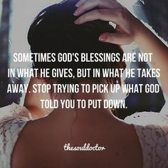 Sometimes God takes things away from our life, even things that are good, because at the moment they may get in the way of us fulfilling His call for our lives. He took away Joseph's family from him for a period of time because the only way Joseph could prepare to fulfill his destiny was without his brothers who put him down by his side. If God removes something or someone from your life don't go chasing after it. There's a reason why they are no longer there.