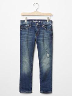 1969 destructed slim fit jeans
