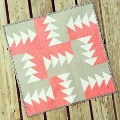 April #freshminiquiltclub // fabrics: @artgalleryfabrics pure elements  @vchristenson #simplycolor, thread: @aurifil (and lots of it!),  batting: @pellonprojects nature's touch: cotton batting by canoeridgecreations, via Flickr