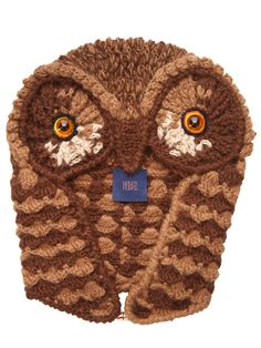 HELEN RODEL - HAND CROCHETED OWL HAT - LUISAVIAROMA