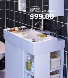 Ikea Bathroom Sink : + images about Tiny bathroom on Pinterest Ikea, Ikea bathroom sinks ...