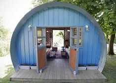 Quonset Hut Homes Design, Great Idea for a Tiny House Man Cave And She Shed, Quonset Hut Homes, Shed Of The Year, She Sheds, Tiny House Living, Shed Plans, Barn Plans, Little Houses, Play Houses