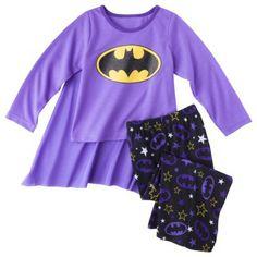 Batgirl Toddler Girls' 2-Piece Long-Sleeve Pajama Set w/ Cape