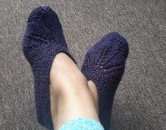 Anything Creative: Knitted Slipper - Seamless Pattern