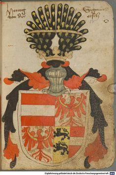 Ortenburger Wappenbuch Bayern, 1466 - 1473 Cod.icon. 308 u  Folio 57r