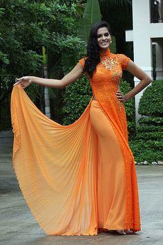 modern ao dai.. love the Orange too!