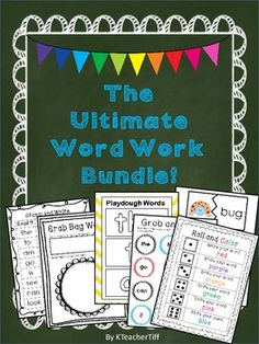 Ultimate Word Work Bundle for Kindergarten and First Grade