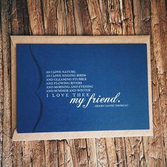 I Love Thee, My Friend