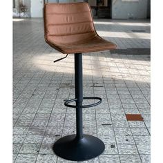 The Boston industrial bar stool is the perfect addition to a rugged interior! This trendy bar stool combines an industrial seat with a black metal frame. Industrial Bar Stools, Wooden Bar Stools, Kitchen Island Bar, Kitchen Stools, Bar Stool Seats, Bar Chairs, Office Break Room, Breakfast Bar Stools, Trendy Bar