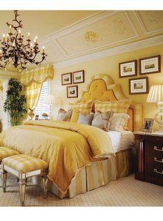 Master Bedroom design...I love this bedroom.  Look at the headboard.