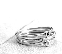 Stackable Letter Ring custom made ring with your choice of letter :)