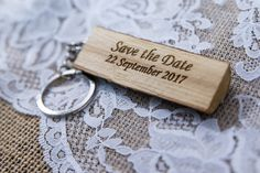 * this listing is for unique keychain wedding favor carved with your names and information. Impress your guests with this beautiful souvenirs. This will be a great keepsake from your wedding....