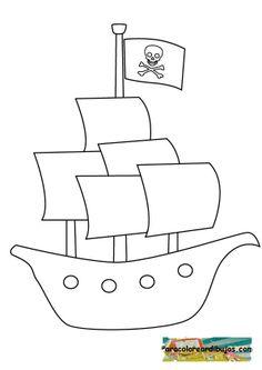 barcopirataparacolorear.jpg (595×842)