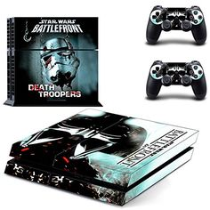Playstation 4 + 2 Controller Aufkleber Schutzfolie Set - Star Wars Battlefront (4)