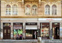 vescovi cafe. Best tasting coffee in prague. Yous can get it to go and across the street is  Petrin hill!