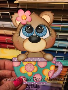 #paperpiecingmemoriesbybabs #paperpiecing #scrapbooking #embellishment #bear #teacup #cardstock #colorbox Foam Crafts, Diy And Crafts, Paper Crafts, Simple Christmas, Christmas Crafts, Easy Christmas Drawings, Artic Animals, Diy Cake Topper, Country Paintings