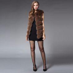 Nice 70CM Real Fur Vest 2016 Winter Thick Silver Fur Coat Jackets for Women Sleeveless Medium Long Genuine Fur Vest Colete De Pele
