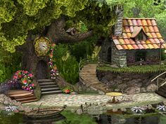 japanese fairy gardens | Little Dwarf 3D Screensaver - Enjoy the charming floral setting