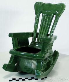 Маккой Керамика Зеленый викторианской качалка плантатор ваза EE   eBay