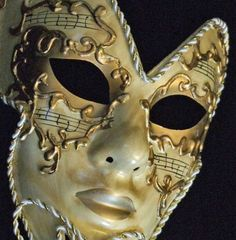 Venetian Mask Full Face Mardi Gras Mask WAND MEDICI IVORY GOLD Halloween…