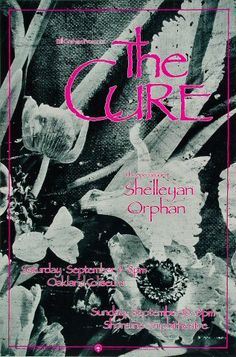 The Cure Poster from Oakland Coliseum Arena, Sep 9, 1989 | Wolfgang's