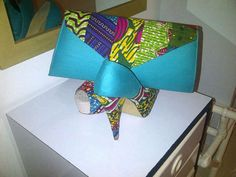 afro chic shoes and clutch by LyciaTurquis on Etsy, $150.00