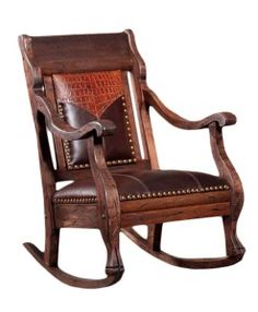 Cowhide U0026 Leather Rocker   RusticArtistry.com   Rocking Chair
