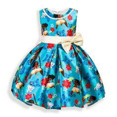 Filles Robe Moana Sans Manches Robes de Princesse Pour Les Filles enfants De Mode Arc De Noël Vêtements Bébé Fille Robe Enfants Vêtements dans Robes de Mère et Enfants sur AliExpress.com | Alibaba Group