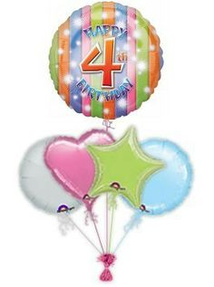 4th Birthday Rainbow 60th Balloons 70th Presents Get Well