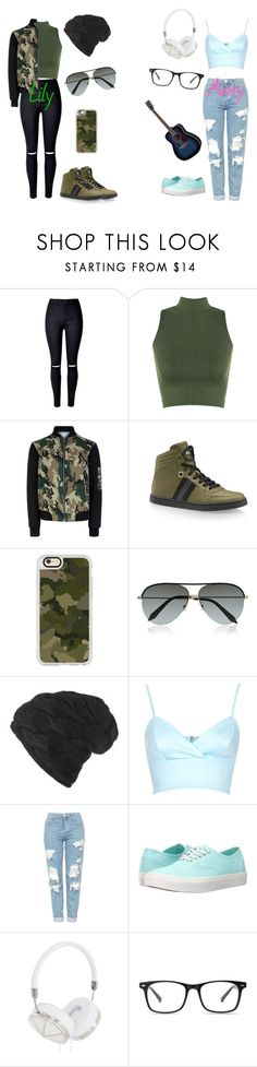 """""""Summer singing"""" by toxicspud ❤ liked on Polyvore featuring WearAll, New Look, Gucci, Casetify, Victoria Beckham, Black, Topshop, Vans and Frends"""