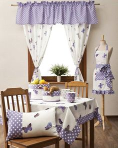 Kitchen shades are utilized as a covering for windows to improve kitchen arrangement. Kitchen Curtain Designs, Modern Kitchen Curtains, Kitchen Curtain Sets, Swag Curtains, Home Curtains, Farmhouse Curtains, Blackout Curtains, Window Curtains, Home Decor Furniture