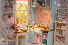 Nerea Pozo Art: ♥ Handmade miniature diorama SUMMER BREEZE KITCHEN ♥
