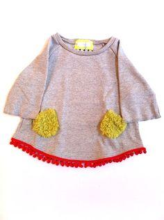 cute idea to sew on a sweatshirt for Moxie