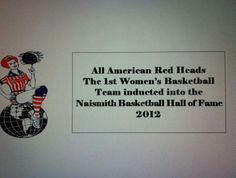 All American Red Heads inducted Naismith Basketball Hall of Fame #AARH