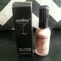 Nail-tini Champagne In champagne.  New. .5 oz full size. Makeup