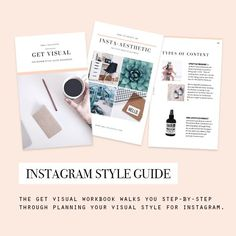 GET VISUAL Instagram Style Guide Workbook walks you step-by-step through planning your visual aesthetic for your Instagram account.