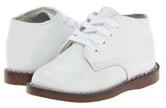 """White """"Todd"""" Leather High Top Shoe"""