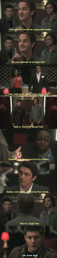 Supernatural with Park and Rec scene Yasss
