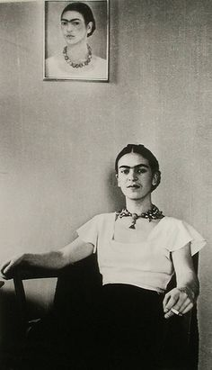 frida, lucienne bloch #portrait. love the soft smile in her face. #rare.