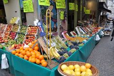 Rue Mouffetard in Paris is home to tons of fresh produce and other products.