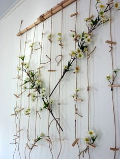 DIY floral wall hanging for under $20.