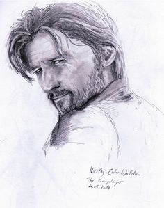 Schnelle Skizze für zwischendurch ca A5, Bleistift  quick sketch, ca. A5, pencil on paper Portrait Nicolaj Coster-Waldau (Game of Thrones, Jamie Lannister)