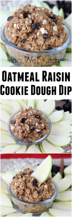 This healthy cookie dough dip is the perfect afternoon snack, using the natural sweetness of California raisins. from Living Well Kitchen @memeinge This is a sponsored post