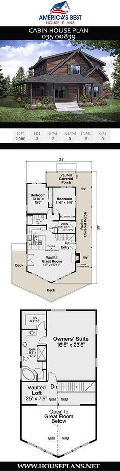 Ideas Rustic House Plans Open Floor Loft For 2019 Open Floor House Plans, Porch House Plans, Rustic House Plans, Lake House Plans, Basement House Plans, Bungalow House Plans, Craftsman Style House Plans, Best House Plans, Dream House Plans