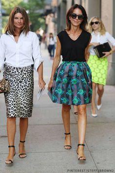 White cotton shirt + animal print skirt. Natalie Massenet #workwearfortheweekend