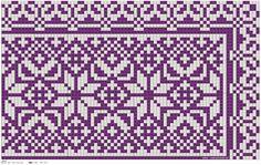 Bunad, Smykker, vev & rosemaling: Kvarde korssting mønster 2